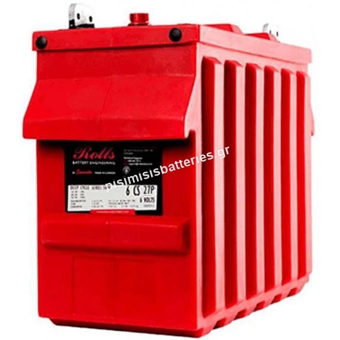 Μπαταρία Ανοιχτού Τύπου με υγρά Rolls 6CS-27P 6V 5000 SERIES (3CELL)