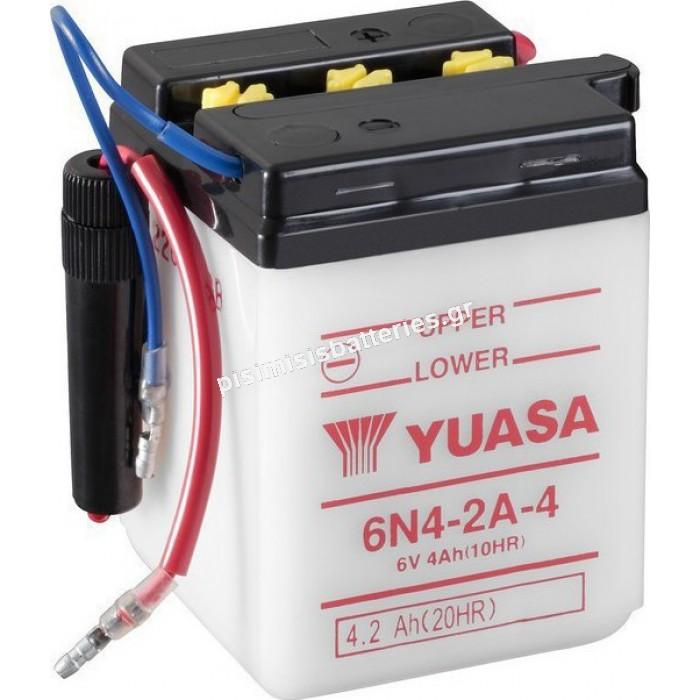 Μπαταρία μοτοσυκλέτας Yuasa 6N4 2A4