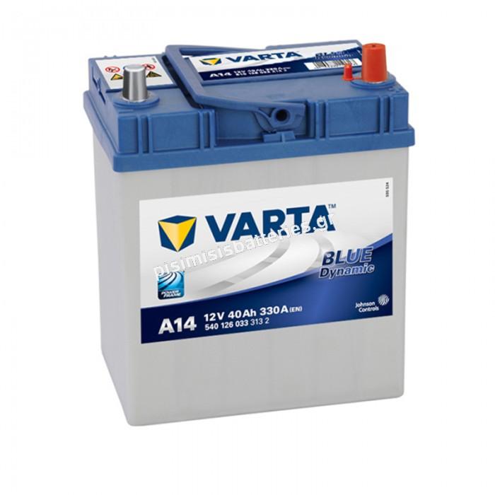 Μπαταρία Αυτοκινήτου Varta Blue Dynamic A14 12V 40Ah 330EN