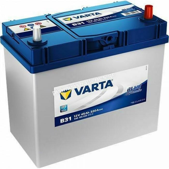 Μπαταρία Αυτοκινήτου Varta Blue Dynamic B31 12V 45Ah 330EN