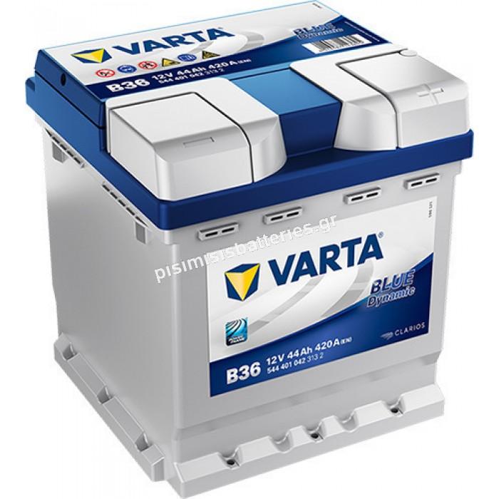 Μπαταρία Αυτοκινήτου Varta Blue Dynamic B36 12V 44Ah 420EN