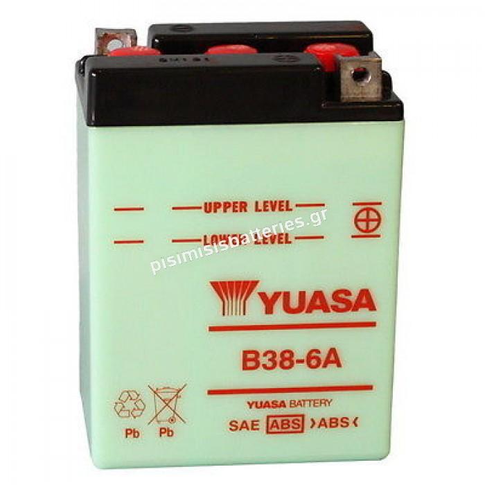 Μπαταρία μοτοσυκλέτας Yuasa B38 6A 13AH