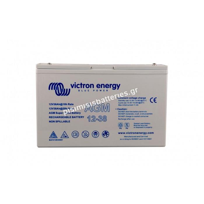 Μπαταρία Victron AGM Βαθειάς Εκφόρτισης 12V 38Ah BAT412350084