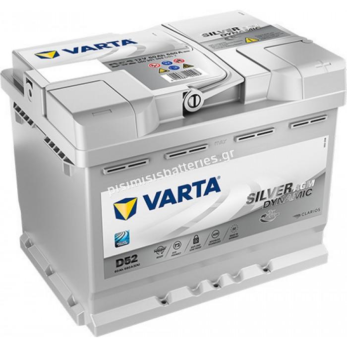 Μπαταρία Αυτοκινήτου Varta Silver Dynamic D52 12V 60Ah 680EN