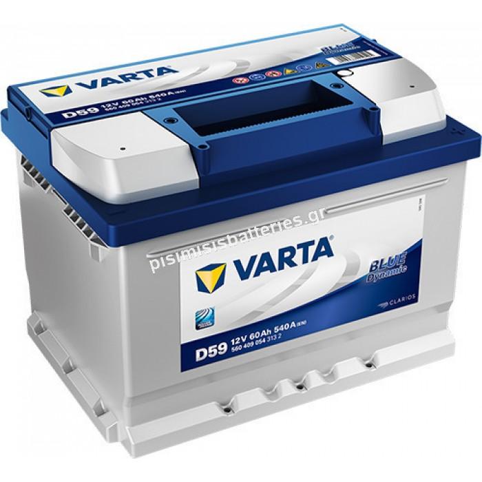 Μπαταρία Αυτοκινήτου Varta Blue Dynamic D59 12V 60Ah 540EN
