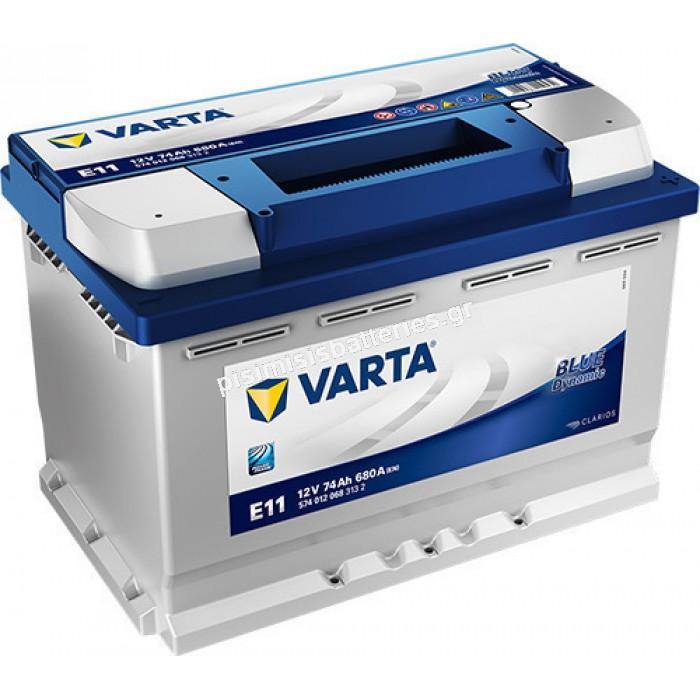 Μπαταρία Αυτοκινήτου Varta Blue Dynamic E11 12V 74Ah 680EN