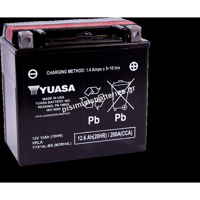 Μπαταρία μοτοσυκλετών Yuasa YTX14L-BS 12V 12Ah