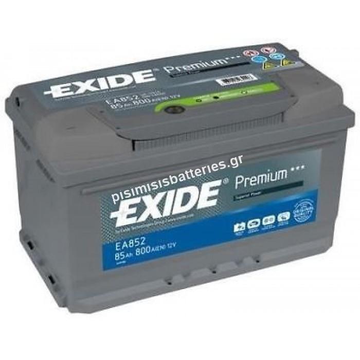 Μπαταρία Premium Exide EA852 12V 85Ah