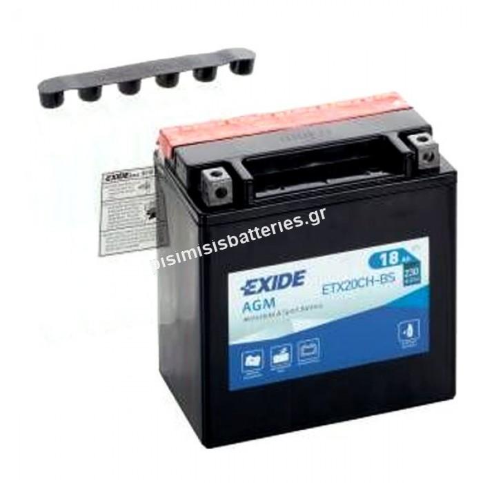 Μπαταρία για Μοτοσυκλέτα EXIDE YTX20CH-BS ( ETX20CH-BS )