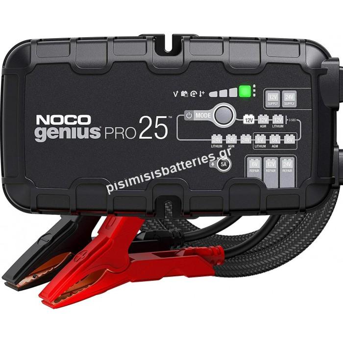 Noco Φορτιστής Μπαταρίας Αυτοκινήτου Genius Pro 25 6V 12V & 24V 25A