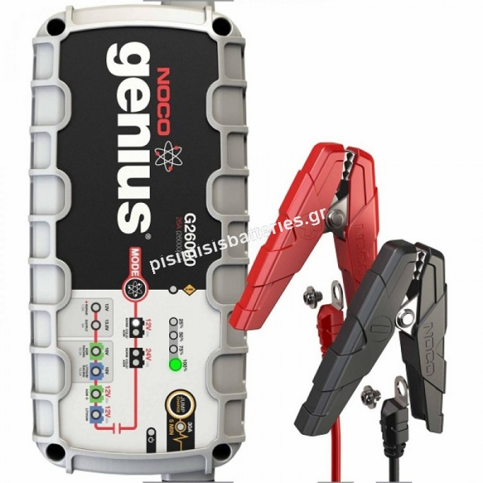 Φορτιστής και Συσκευή Συντήρησης Συσσωρευτών Noco G26000 12V & 24V 26A