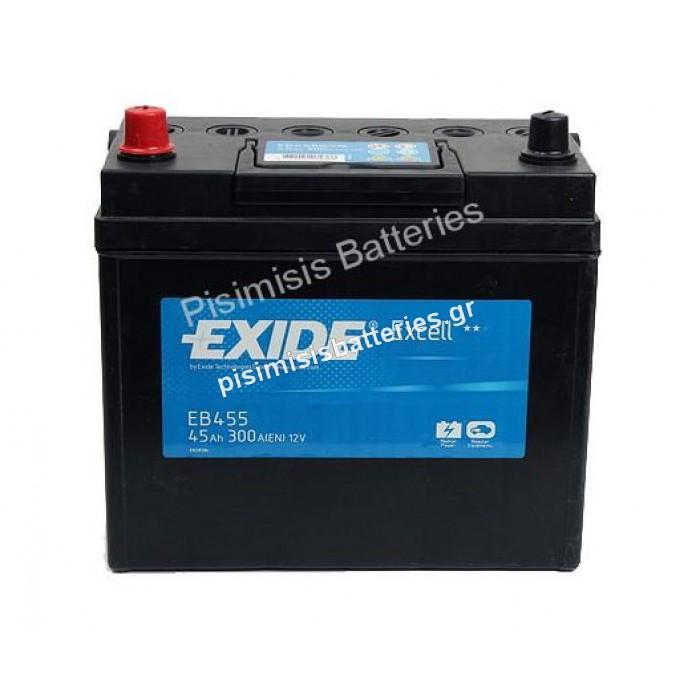 Μπαταρία Αυτοκινήτου Exide Excell EB455