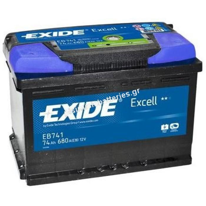 Μπαταρία Αυτοκινήτου Exide Excell EB741