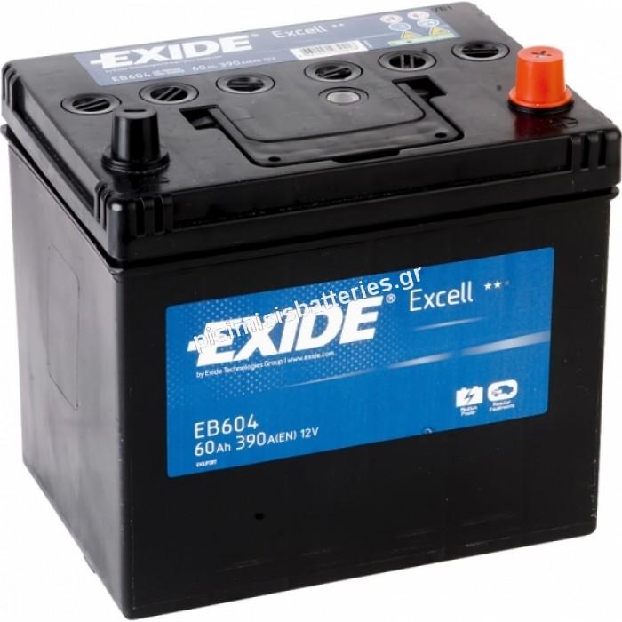 Μπαταρία Αυτοκινήτου Exide Excell EB604