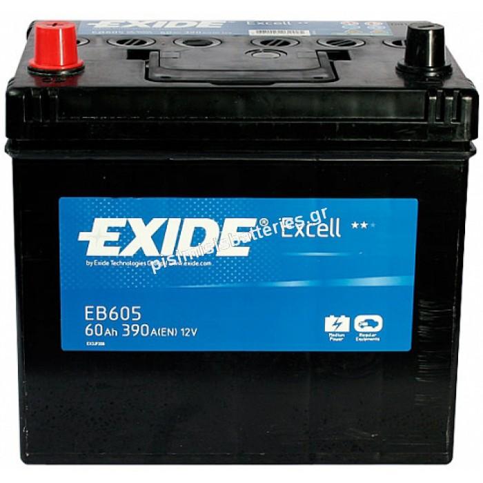 Μπαταρία Αυτοκινήτου Exide Excell EB605