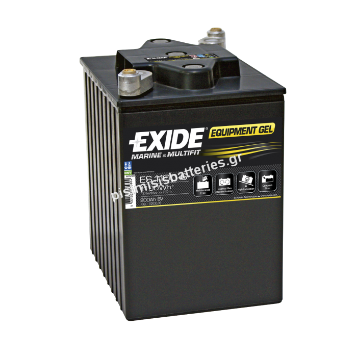 Μπαταρία Βαθειάς Εκφόρτισης EXIDE ES1100-6-bat3