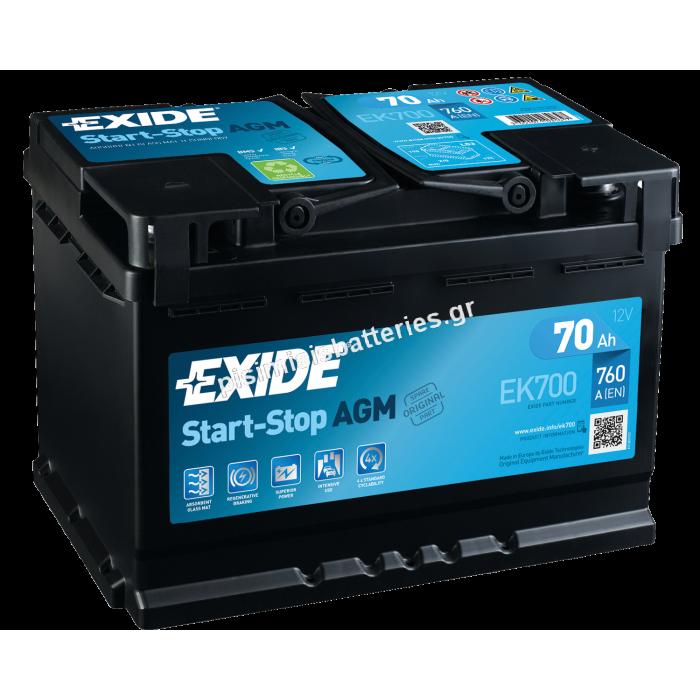Μπαταρία START STOP για TAXI EXIDE EK700-bat1