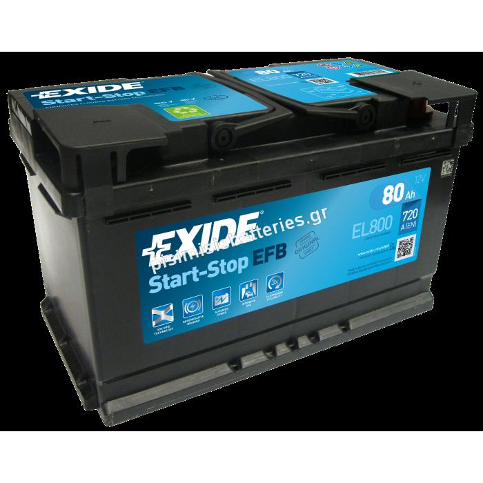 Μπαταρία START STOP για Υβριδικά EXIDE EL800