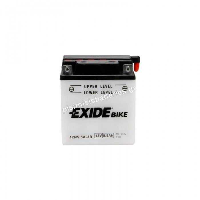 Μπαταρία για Μοτοσυκλέτα EXIDE 12N5.5-3B