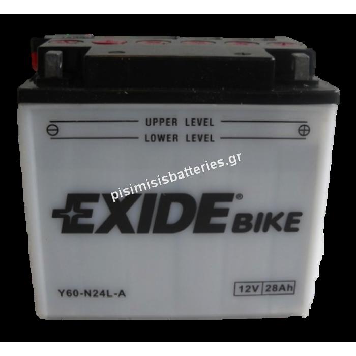 Μπαταρία για Μοτοσυκλέτα EXIDE Y60-N24L-A
