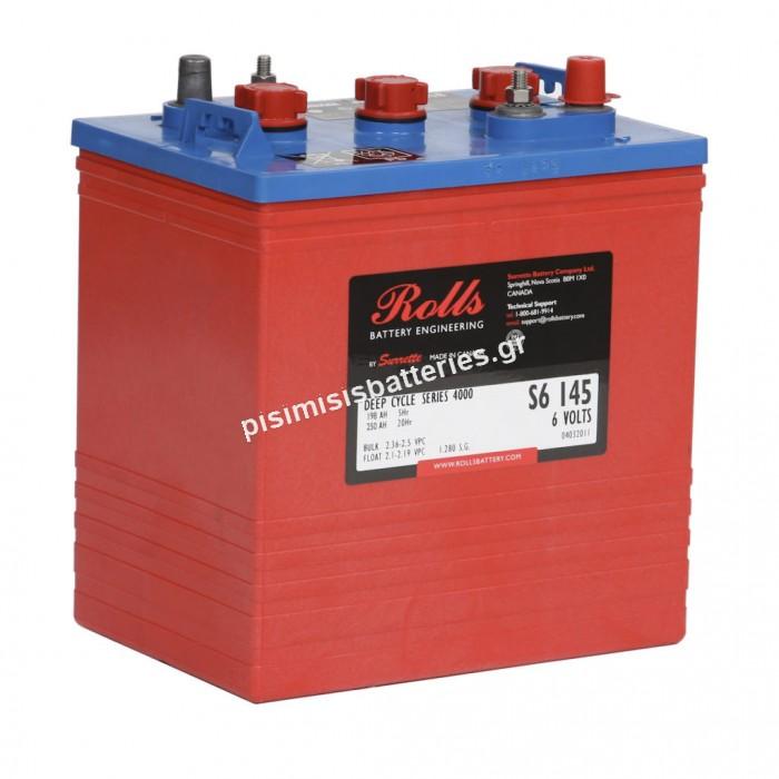 Μπαταρία Ανοιχτού Τύπου με υγρά Rolls S6 145 ( S320 ) 6V 4000 SERIES ( 3 CELL )
