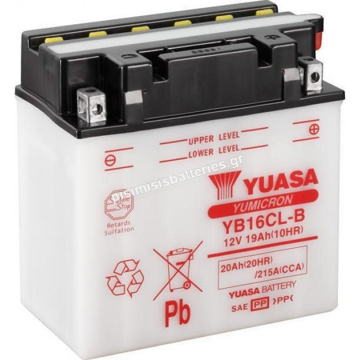 Μπαταρία για Μοτοσυκλέτες Yuasa YB16CL-B