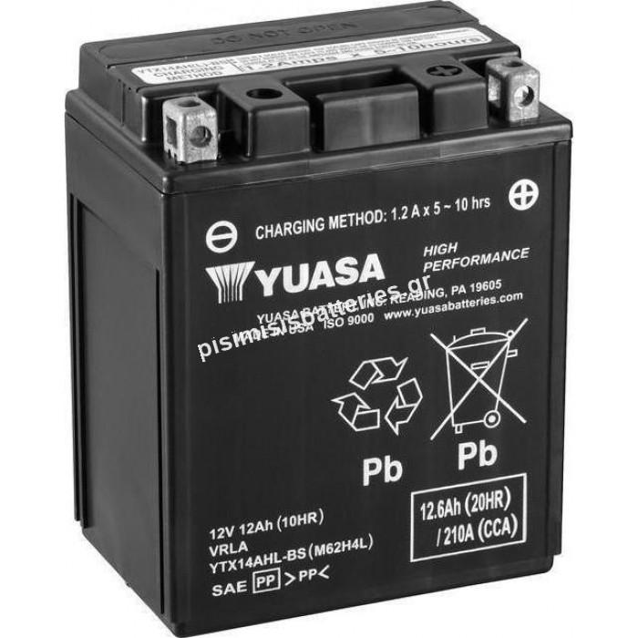 Μπαταρία μοτοσυκλετών Yuasa YTX14AHL-BS 12V 12Ah