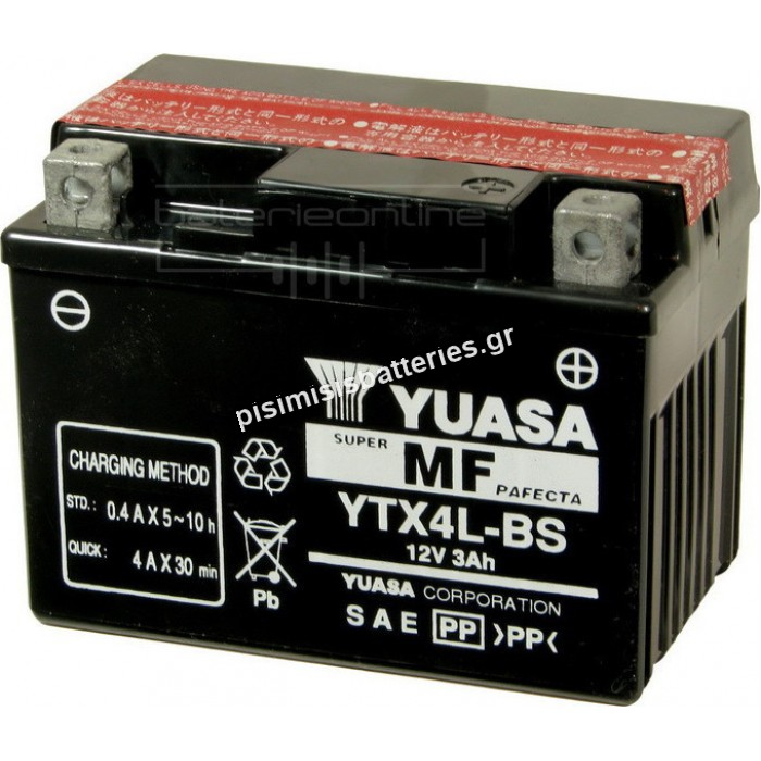 Μπαταρία μοτοσυκλέτας Yuasa YTX4L BS