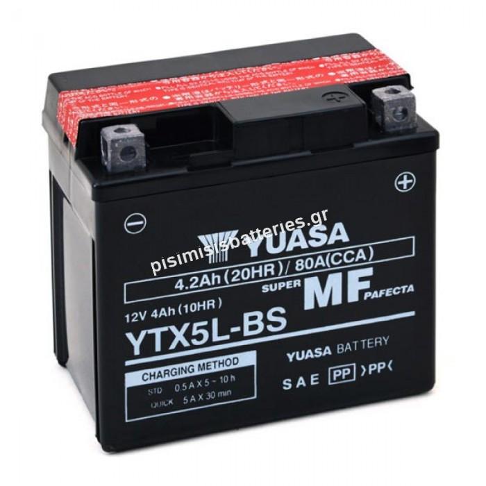 Μπαταρία μοτοσυκλέτας Yuasa YTX5L BS